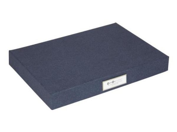Schachtel Bigso Box Aufbewahrungsbox Papierbezug Dennis weiss/gold