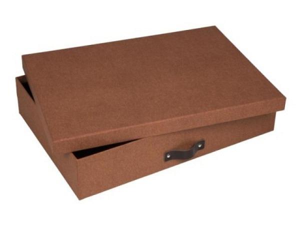 Schachtel Bigso Box Papierbezug Alva 2Stk. schwarz/dunkelgold