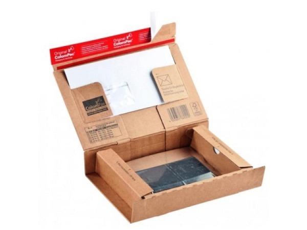 Schachtel Colompack Post Grösse SM braun, BxTxH 262x165x50mm