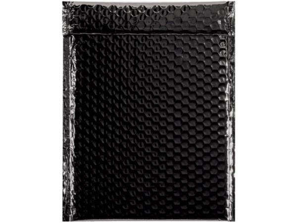 Luftpolstertüte metallisch matt 23x32,4cm schwarz