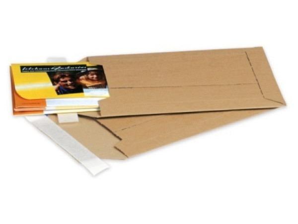 Buchversandhülle Nips braun für Formate bis max. 27x33cm