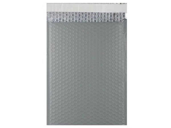 Luftpolstertüte metallisch matt 23x32,4cm dunkelgrau
