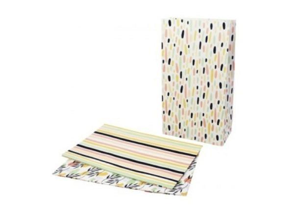 Tragtasche Papier anthrazit 27x37x12cm gefärbtes Kraftpapier