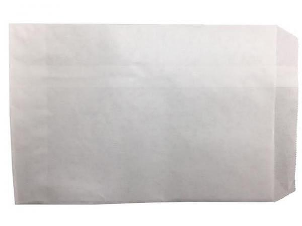 Flachbeutel Kraftpapier weiss 12x17,6cm