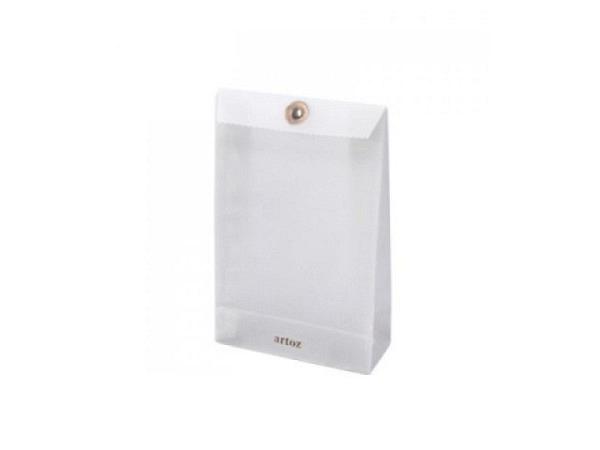 Tragtasche Papier anthrazit 18x24x8cm gefärbtes Kraftpapier