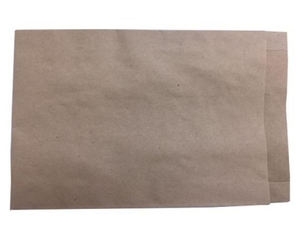 Flachbeutel Papier Natronkraft braun 16,5x24+2cm, für A5