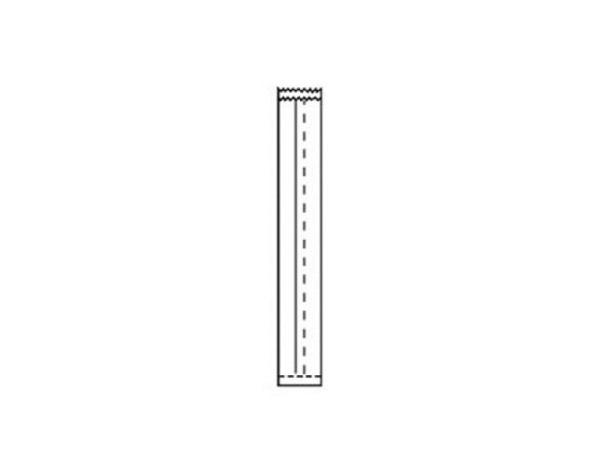 Flachbeutel Papier dunkelblau 14x28cm mit seitlichem Falz