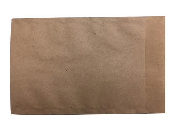Flachbeutel Kraftpapier braun 11,5x16cm, 50gr mit Lasche 2cm