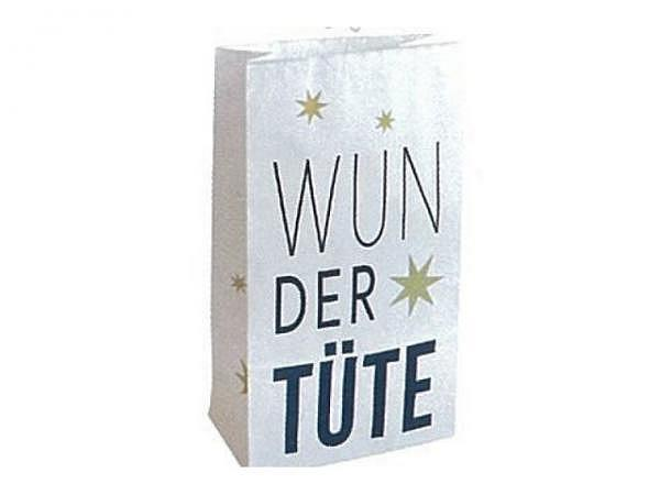 Bodenbeutel Zischka Wundertüte weiss, 12x21x6cm, 100g/m2