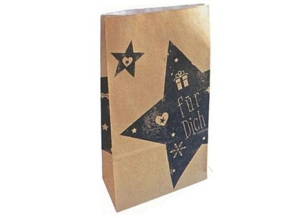 Bodenbeutel Zischka Mega Star braun 16x26x8cm