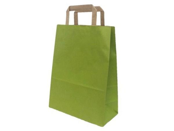 Tragtasche Papier Colorati hellgrün 22x29x10cm