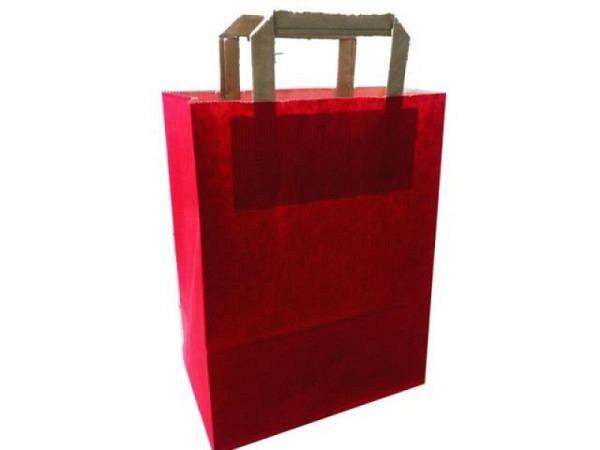 Tragtasche Papier Colorati rot 22x29x10cm