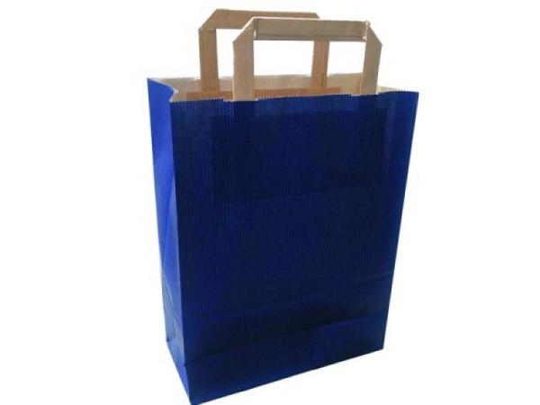 Tragtasche Papier Colorati dunkelblau 22x29x10cm