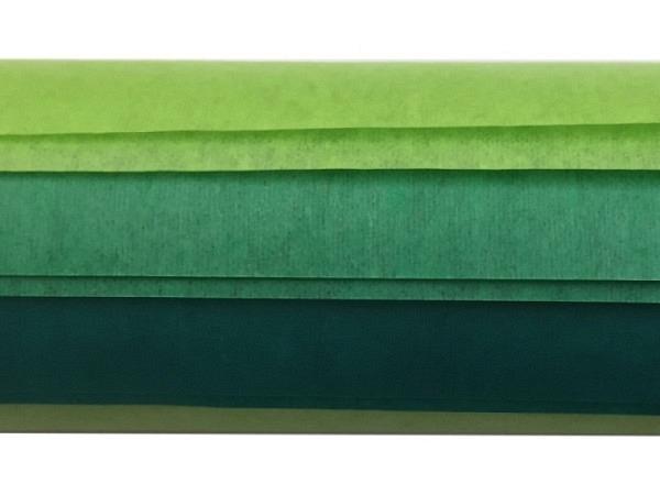 Seidenpapier Folia Farbstufen grün 3x2Bogen 50x70cm