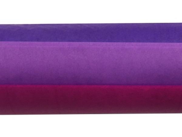 Seidenpapier Folia Farbstufen violett 3x2Bogen 50x70cm