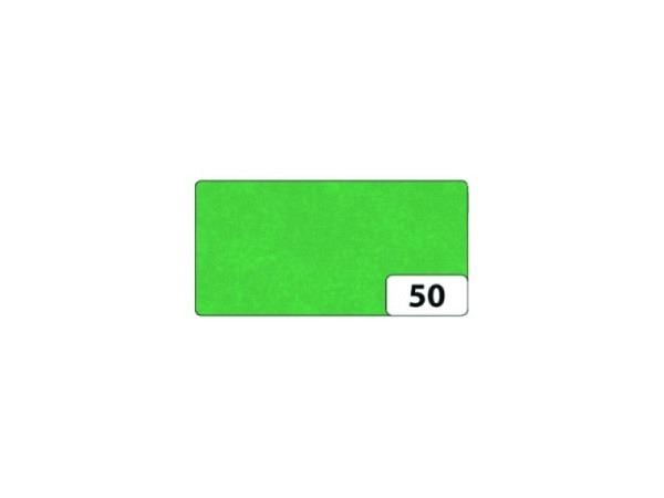 Seidenpapier Folia gefalzt 13 Bogen grün, 50x70cm