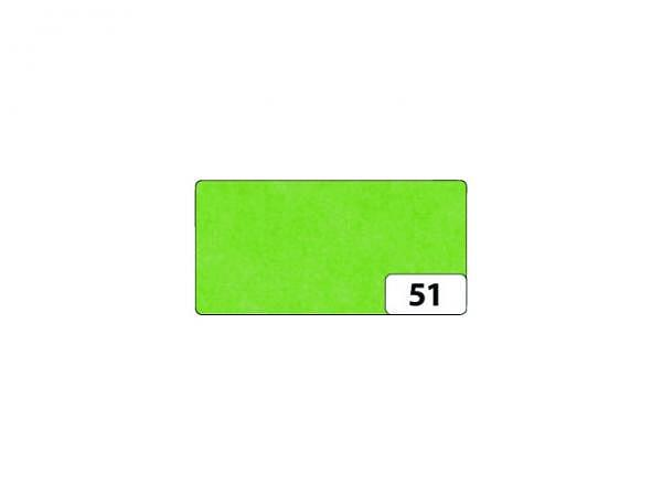 Seidenpapier Folia gefalzt 13 Bogen hellgrün, 50x70cm