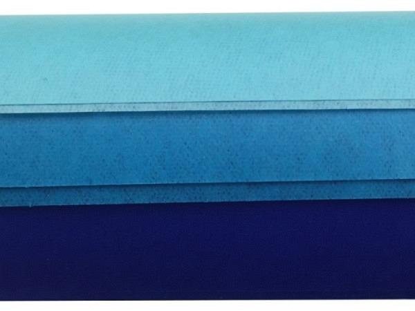 Seidenpapier Folia Farbstufen blau 3x2Bogen 50x70cm
