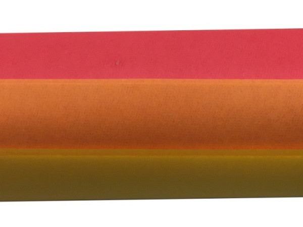Seidenpapier Folia Farbstufen orange 3x2Bogen 50x70cm