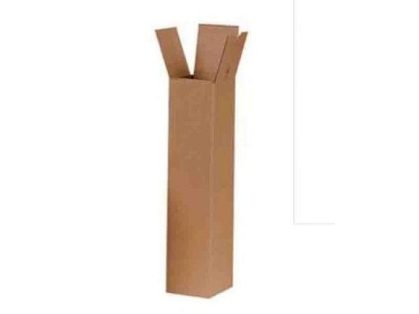 Versandrolle Karton braun 42cmx5cm, aus 2,5mm dickem Karton