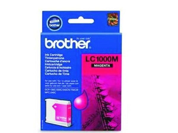 Druckerpatrone Brother LC-1000M Magenta, 400 Seiten