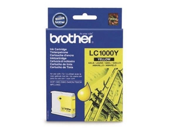 Druckerpatrone Brother LC-1000Y Yellow, 400 Seiten