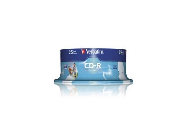 CD Rohling Verbatim Printable CD-R fullprint, 80min Spind