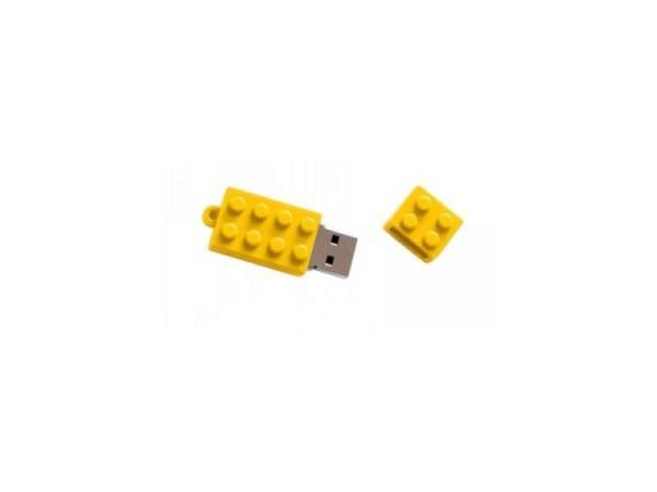 Datenträger Trendform Brick Legostein gelb 8GB, 40x17x12mm