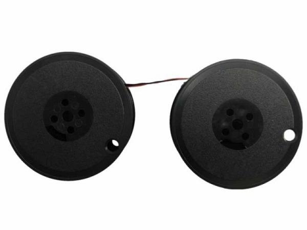 Farbband Pelikan Gr.5+6 Seide schwarz/rot, Doppelspule