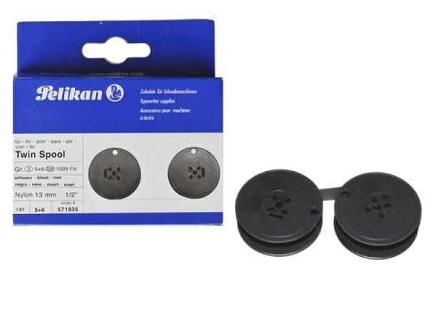 Farbband Pelikan Gr.5+6 Nylon schwarz, Doppelspule