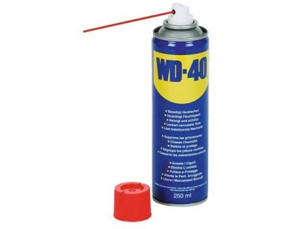 Spray WD-40 Schmiermittel 250ml mit integriertem Sprühröhrchen