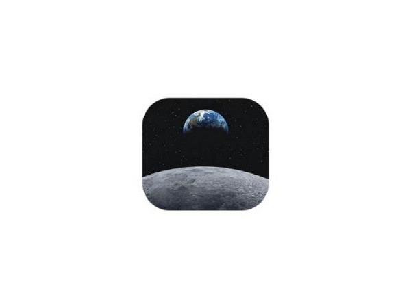 Mausmatte Fellowes Maus Pad Brite mit Motiv Erde und Mond