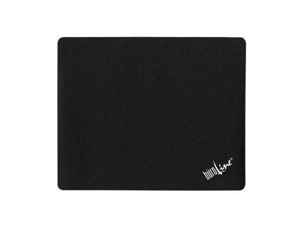 Mausmatte Büroline schwarz 21,9x18cm, rutschfeste Rückseite