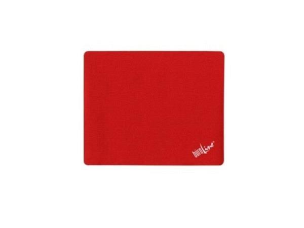 Mausmatte Büroline rot 21,9x18cm, rutschfeste Rücksteite