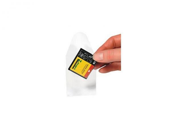 Speicherkarten Hülle 3L transparent selbstklebend