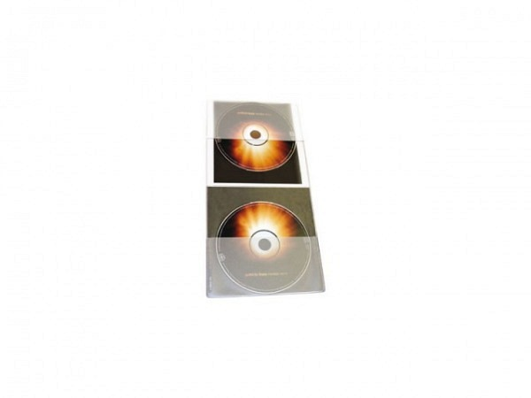 CD Hülle Softcover 20Stk. für zwei DVDs transparent flexibel