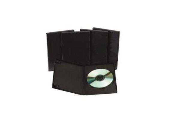 CD Hülle Connect DVD Leerhüllen, 5 schwarze Hardbox