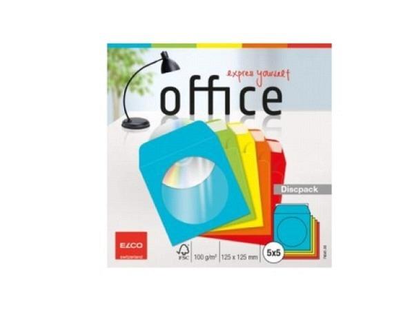 CD Hülle CL Mix 125x125mm 25Stk. farbig sortiert, aus Papier