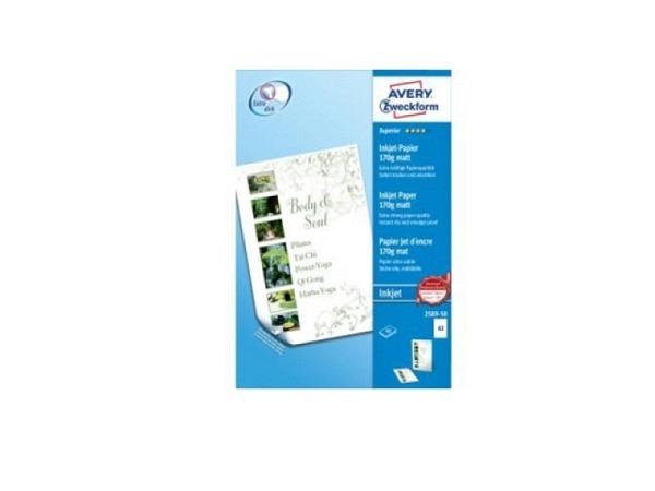 Papier Zweckform A3 170gr weiss Inkjet seidenmatt beidseitig