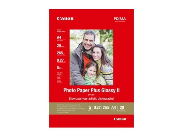 Papier Canon Fotopapier Plus glossy II, glänzend 265g/qm A4