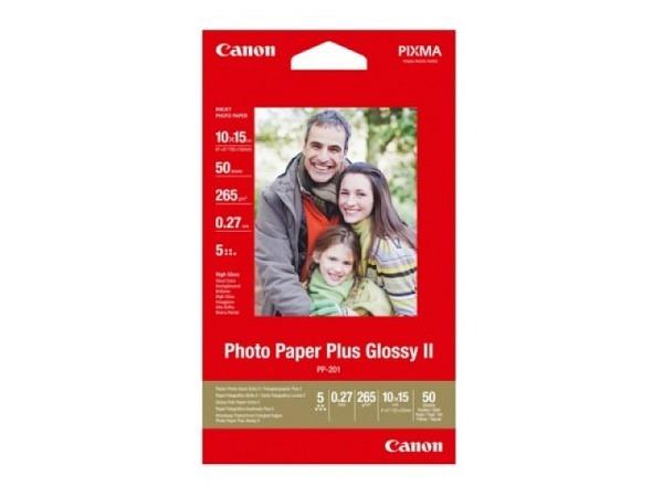 Papier Canon Fotopapier Plus glossy II 10x15cm, 275g/qm 50 Blatt