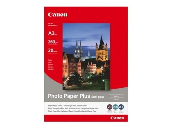 Papier Canon Fotopapier Plus Semigloss A3 seidenmatt