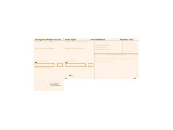 Einzahlungsscheine Büroline BESR orange A4 90g Bankzahlungen