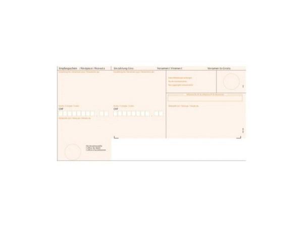 Einzahlungsscheine Simplex Simfacture orange A4, 90g/qm