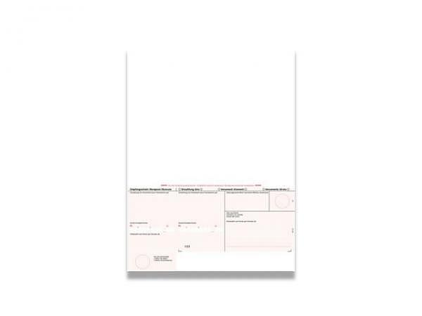 Einzahlungsscheine Simplex rot, 90g/qm, geboxt A4 1000Blatt