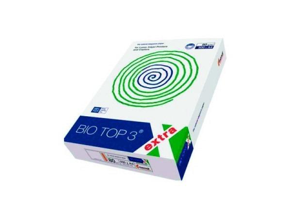 Papier Biotop 3 A4 80g/qm naturweiss holzfrei, chlorfrei 500Blatt