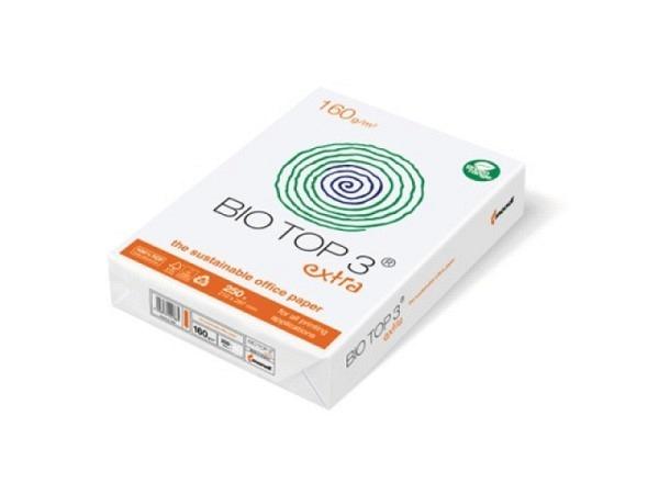 Papier Biotop 3 A4 160g/qm naturweiss holzfrei, chlorfrei 250Blatt