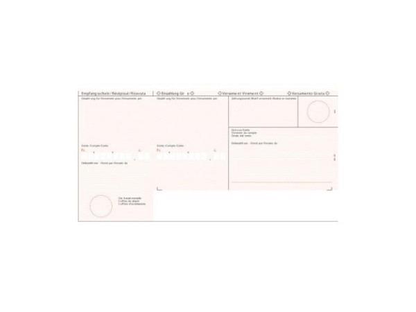 Einzahlungsscheine Simplex rot, A4, 90g/qm
