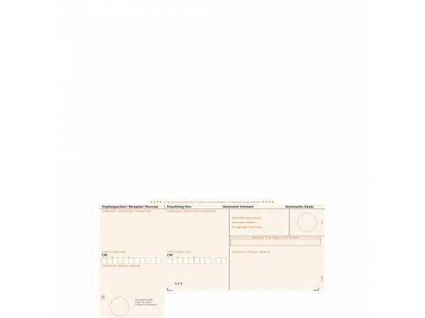 Einzahlungsscheine Simfacture orange Einzelblatt 90g/qm