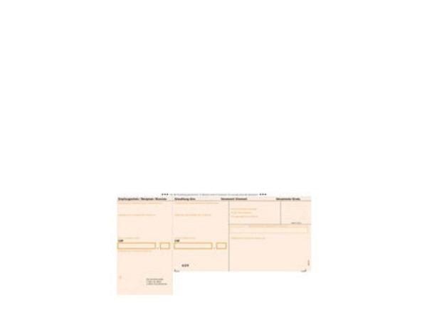 Einzahlungsscheine orange A4, 90g/qm, 500Bl. für Bank